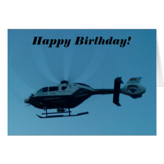 Helicopter in Motion Birthday Card
