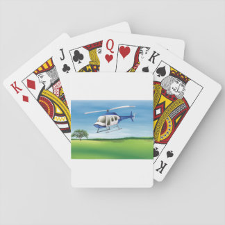 Helicopter Landing Playing Cards