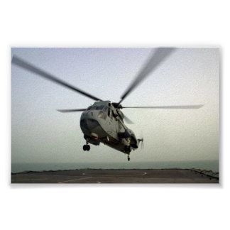HELICOPTER LANDING POSTER