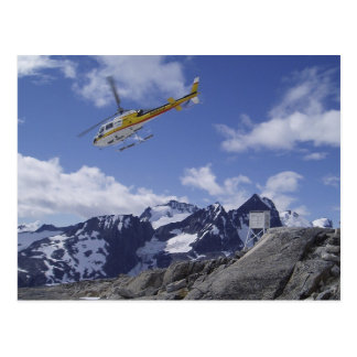 Helicopter on the Juneau Icefield Postcard