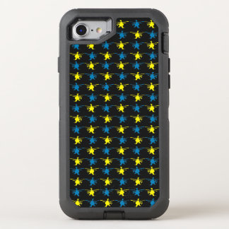 Helicopter Pattern Yellow Blue Print OtterBox Defender iPhone 8/7 Case