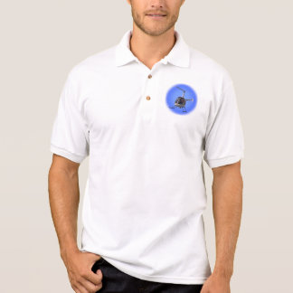 Helicopter Polo Shirt Cool Flying Chopper Gifts