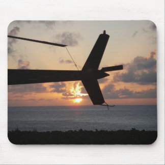 Helicopter Sunset Mouse Pad