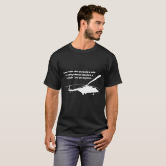 Helicopter T-shirt with Quotation