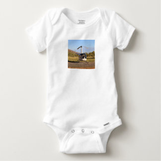 Helicopter (white), Outback Australia 2 Baby Onesie