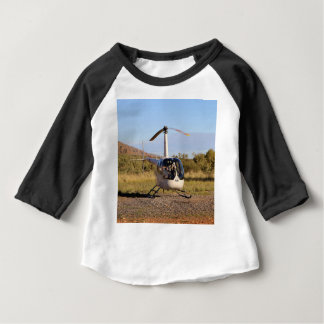 Helicopter (white), Outback Australia 2 Baby T-Shirt