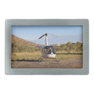 Helicopter (white), Outback Australia 2 Belt Buckle