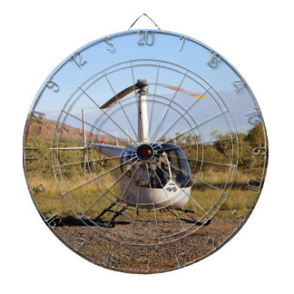 Helicopter (white), Outback Australia 2 Dartboard With Darts