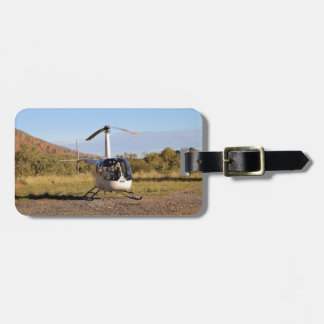 Helicopter (white), Outback Australia 2 Luggage Tag
