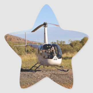 Helicopter (white), Outback Australia 2 Star Sticker