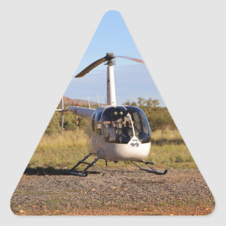 Helicopter (white), Outback Australia 2 Triangle Sticker