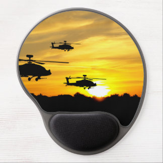 Helicopters at Sunrise Gel Mouse Pad