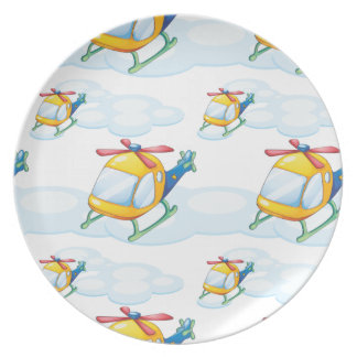 helicopters plate