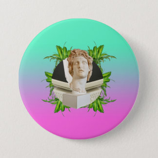 Helios and Leaves 7.5 Cm Round Badge