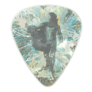 """ Helios "" Sun God, custom guitar picks by Clayton"