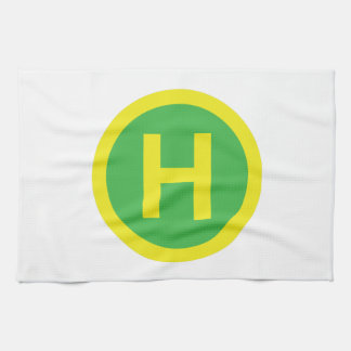 Helipad Sign Tea Towel