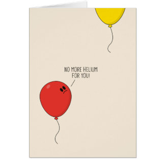 Helium Balloons Greeting Card