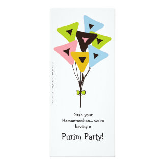 Helium Hamantaschen Purim Party Invitation