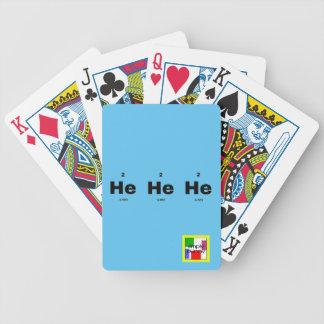 Helium pun bicycle playing cards