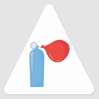 Helium Tank Triangle Sticker