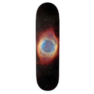 Helix Nebula by Hubble 21.6 Cm Skateboard Deck