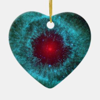 Helix Nebula Ceramic Heart Decoration