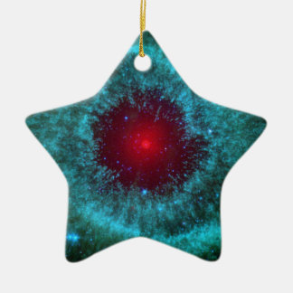 Helix Nebula Ceramic Star Decoration
