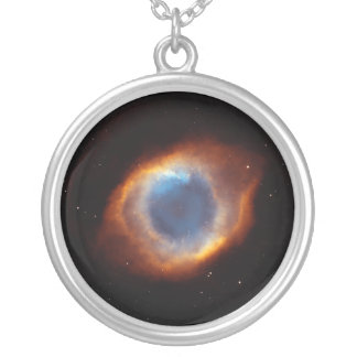 "Helix Nebula ""Eye of God"" Hubble Telescope Silver Plated Necklace"