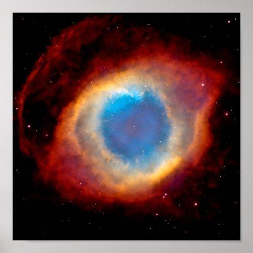Helix Nebula Eye of God Posters