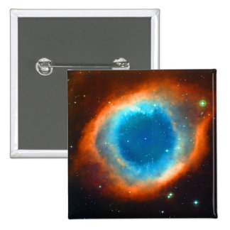 Helix Nebula, Galaxies and Stars 15 Cm Square Badge