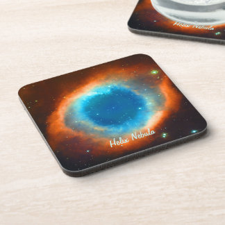 Helix Nebula, Galaxies and Stars Beverage Coasters