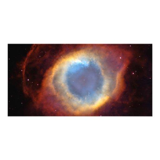 Helix Nebula Hubble Space Astronomy Personalized Photo Card