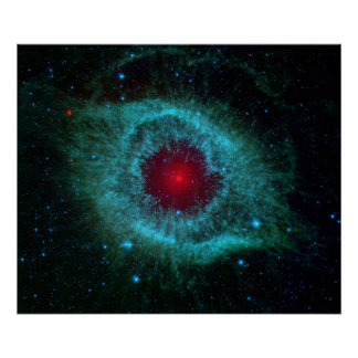 Helix Nebula Infrared Poster