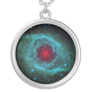 Helix Nebula Silver Plated Necklace