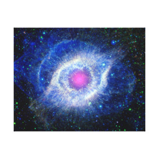Helix Nebula Ultraviolet Eye of God Space Photo Canvas Print