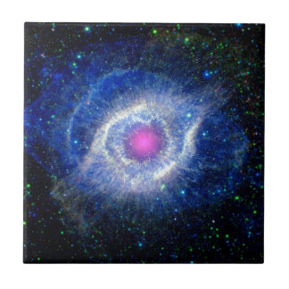 Helix Nebula Ultraviolet Eye of God Space Photo Ceramic Tile