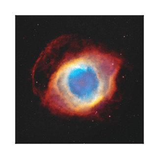 Helix Planetary Nebula NGC 7293 - Eye of God Canvas Print