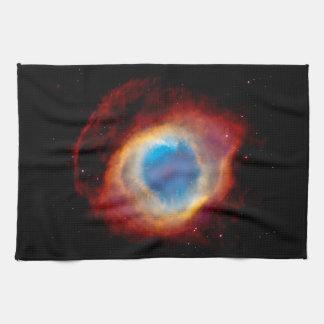 Helix Planetary Nebula NGC 7293 - Eye of God Tea Towel