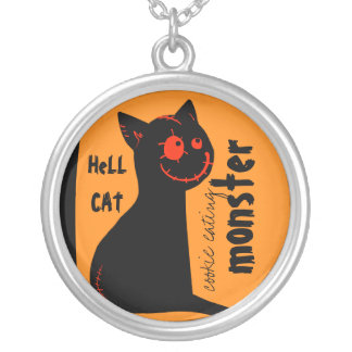 hell black cat Halloween Necklaces
