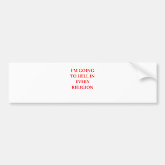 HELL BUMPER STICKER
