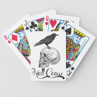 Hell Crow Halloween Bicycle Playing Cards