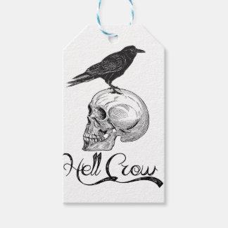 Hell Crow Halloween Gift Tags
