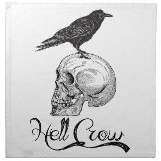 Hell Crow Halloween Napkin