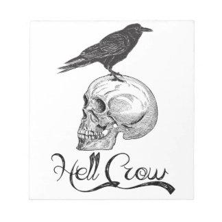 Hell Crow Halloween Notepad