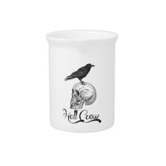 Hell Crow Halloween Pitcher