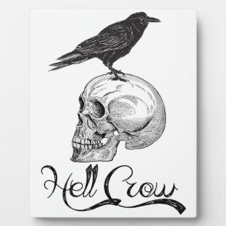 Hell Crow Halloween Plaque