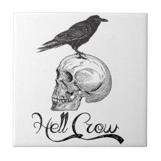 Hell Crow Halloween Tile