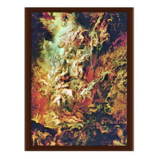 Hell Fall Of The Damned By Rubens Peter Paul Postcard
