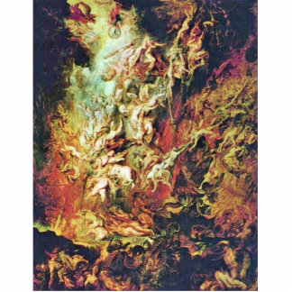 Hell Fall Of The Damned By Rubens Peter Paul Standing Photo Sculpture