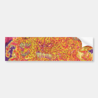 Hell Fire Demon Fantasy Art Illustration Bumper Sticker